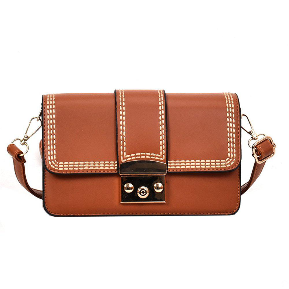 Fancy Fashion Color Thread Lock Small Bag New Female Shoulder All-match Crossbody Tide