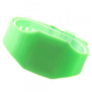 LED Silicone Electronic Ultra-Thin Touch Screen Watch -