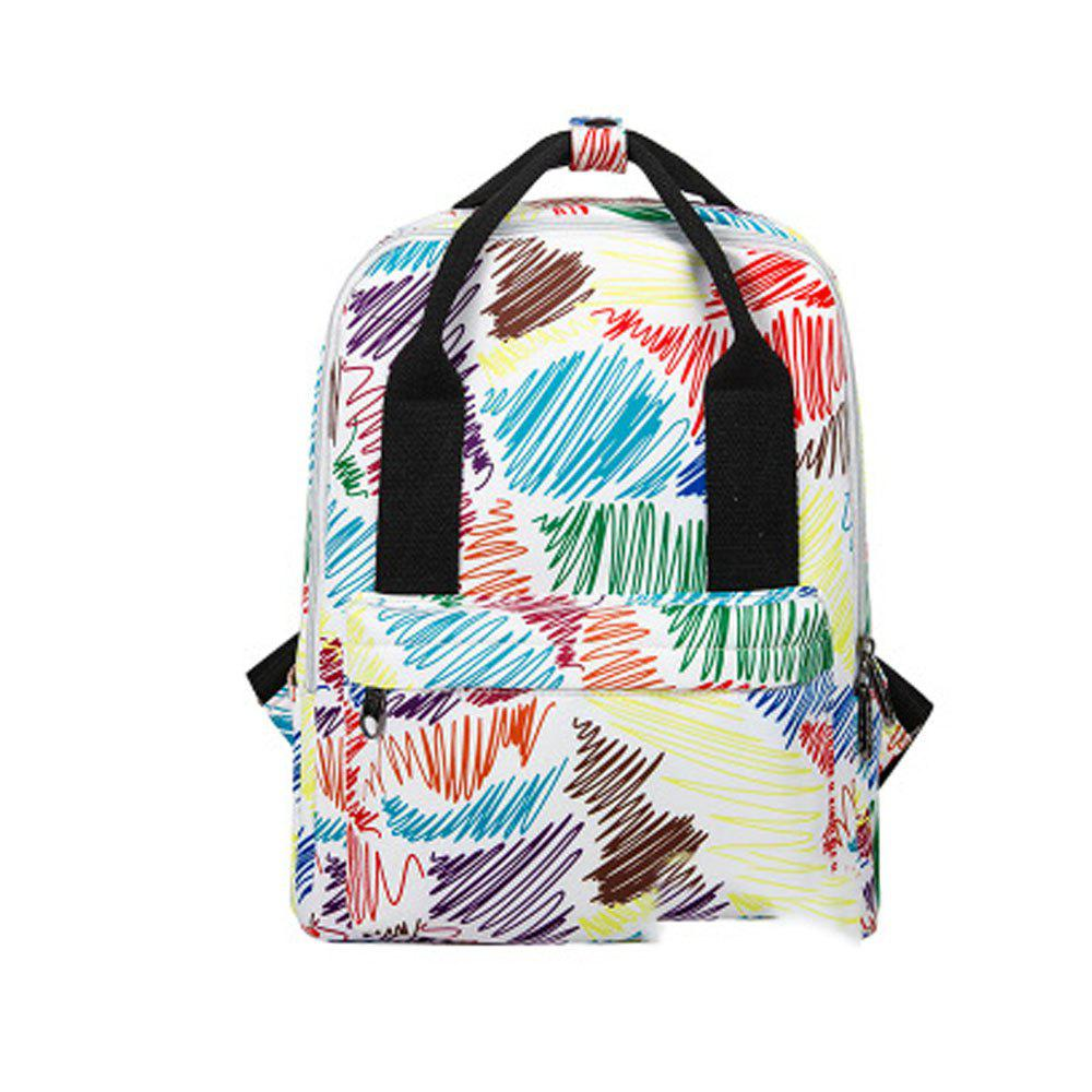 Affordable Kid's Bag Colorful hand Painted Pattern Portable Casual Travel Computer Bag