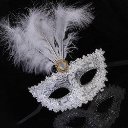 Lady Sexy Lace Feather Flower Eye Mask Masquerade Girl Half Face Dance Headdress -