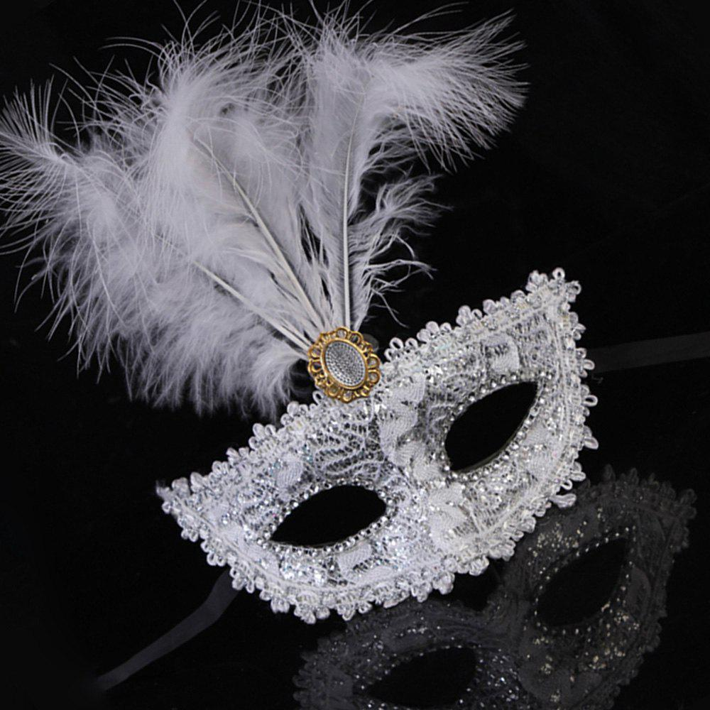 Best Lady Sexy Lace Feather Flower Eye Mask Masquerade Girl Half Face Dance Headdress