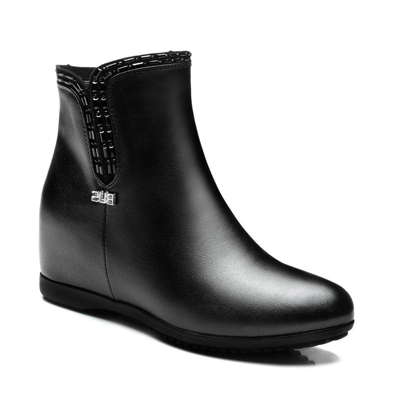 New Flat Bottom Raised with Fleecy Ankle Boots