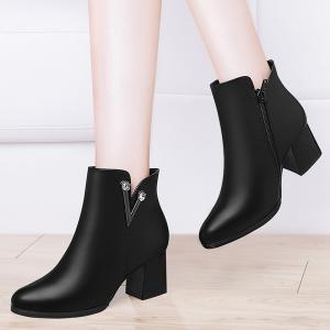 With A Velvet and Short Martin Boots -