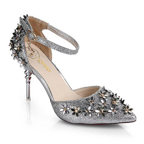 Latest Fine Heel Sparkle Sandals