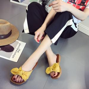 Retro Butterfly Knot Sandals for Leisure Beach -