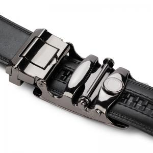 Men'S Casual Automatic Buckle Leather Belt Fashion Belt of Leather Business Fashion Belt. -
