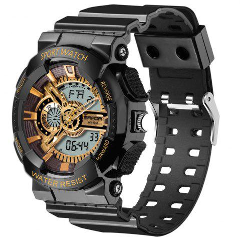 Latest Sanda 799 5301 Men Sports Casual Personality Dial Silicone Tape Waterproof Quartz Watch