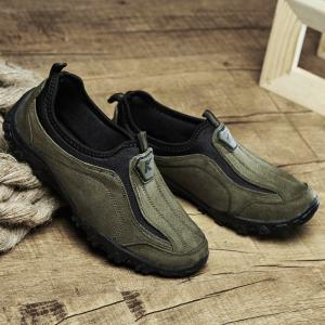 ZEACAVA Men Outdoor Casual Climbing Hiking Cotton Solid Walking Loafers Shoes -