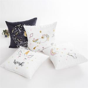 Creative Bronzing Unicorn Pillowcase Cover for Bedroom Home Decorative -