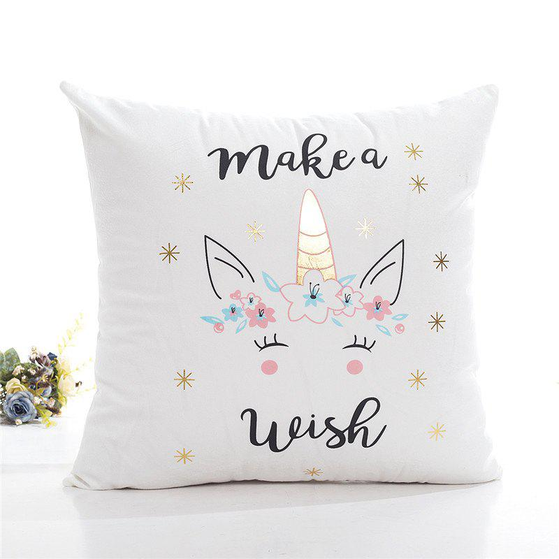 Shop Creative Bronzing Unicorn Pillowcase Cover for Bedroom Home Decorative
