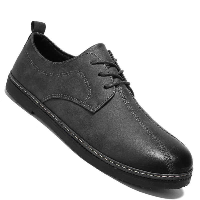 Cheap Spring Retro Style Leisure Leather Shoes