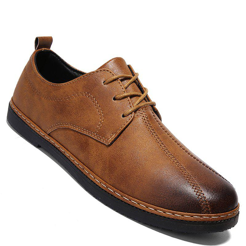 Affordable Spring Retro Style Leisure Leather Shoes