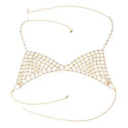 Multi-layered Rhinestone Body Creative Personalized Jewelry Mesh Thorax Chain -