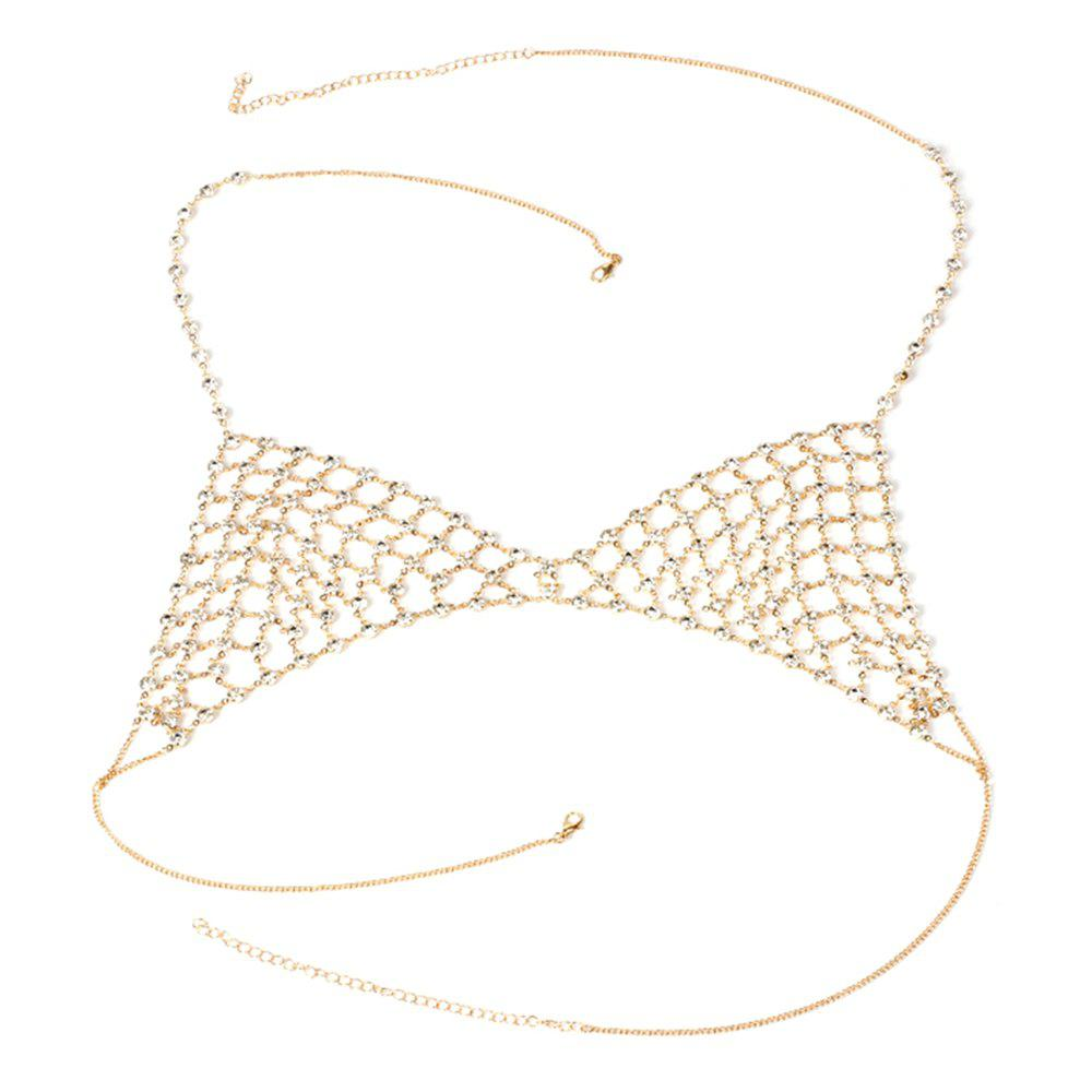 Outfits Multi-layered Rhinestone Body Creative Personalized Jewelry Mesh Thorax Chain