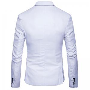 Homme Printemps Turndown Collar Manches longues -