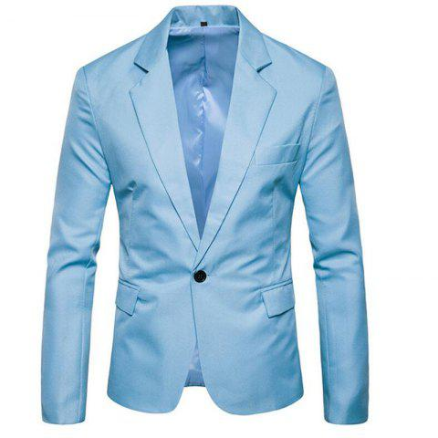 Chic Men Spring Turndown Collar Long Sleeve Suit