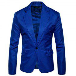 Men Spring Turndown Collar Long Sleeve Suit -