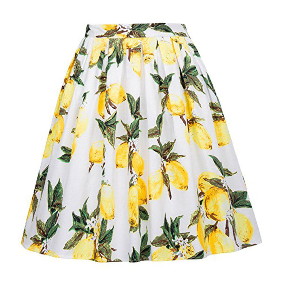 Outfit Women Pleated Floral Print Skirts