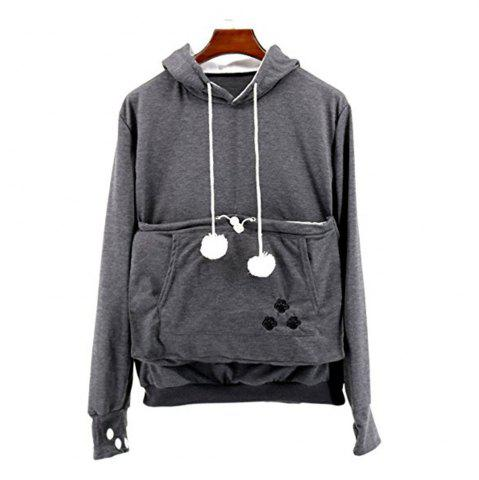 Cheap Women Stylish Hoodie with Big Kangaroo Pocket