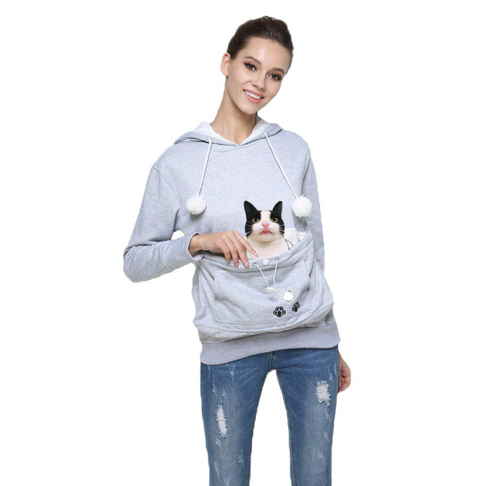 Shop Women Stylish Hoodie with Big Kangaroo Pocket