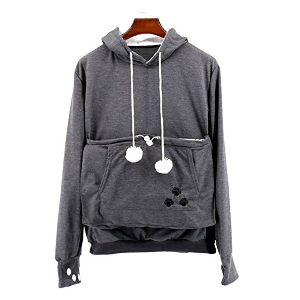 Chic Women Stylish Hoodie with Big Kangaroo Pocket
