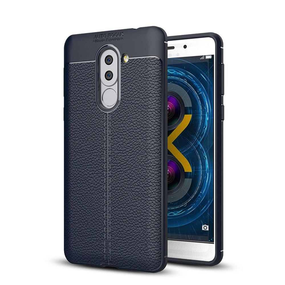 Outfits Cover Case for Huawei Honor 6X Luxury Original Shockproof Armor Soft Leather Carbon TPU