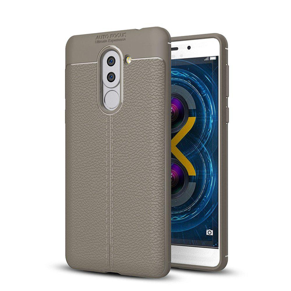 Outfit Cover Case for Huawei Honor 6X Luxury Original Shockproof Armor Soft Leather Carbon TPU