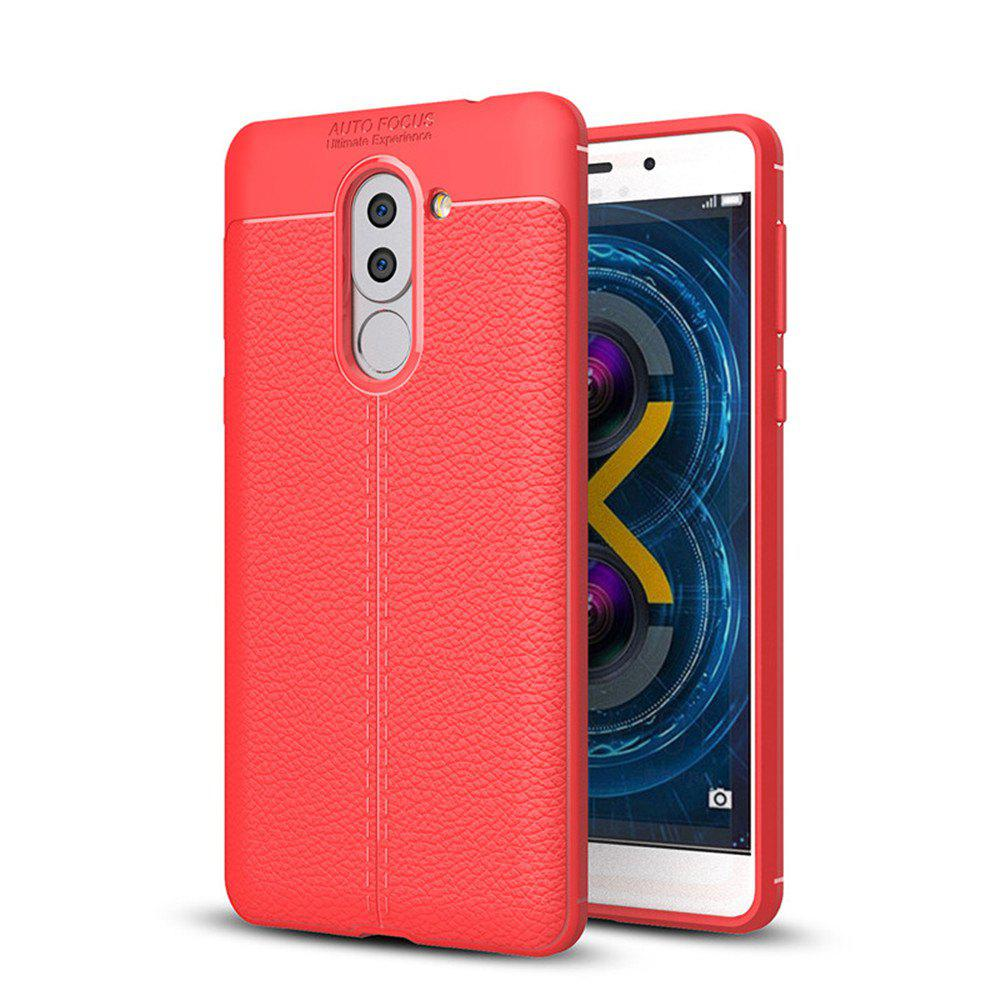 Affordable Cover Case for Huawei Honor 6X Luxury Original Shockproof Armor Soft Leather Carbon TPU