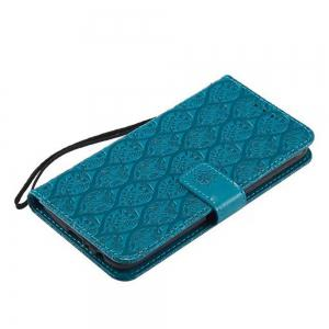 Cover Case for Motorola Moto G5 Plus Embossed Rattan Pattern PU Leather Wallet Case -