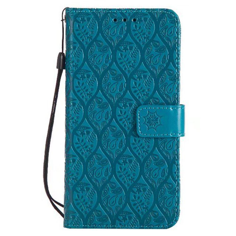 Sale Cover Case for Motorola Moto G5 Plus Embossed Rattan Pattern PU Leather Wallet Case