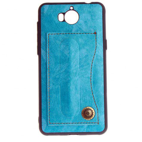Sale Leather Bracket Insert Card Cell Phone Shell For Huawei Y6 2017 Cases Cover Extravagant Fashion Bracket Phone Case