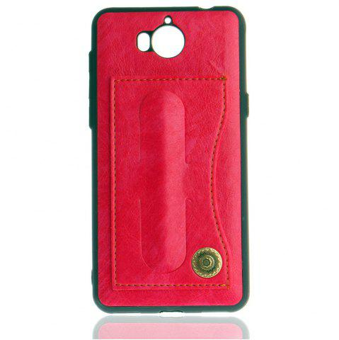 Unique Leather Bracket Insert Card Cell Phone Shell For Huawei Y6 2017 Cases Cover Extravagant Fashion Bracket Phone Case