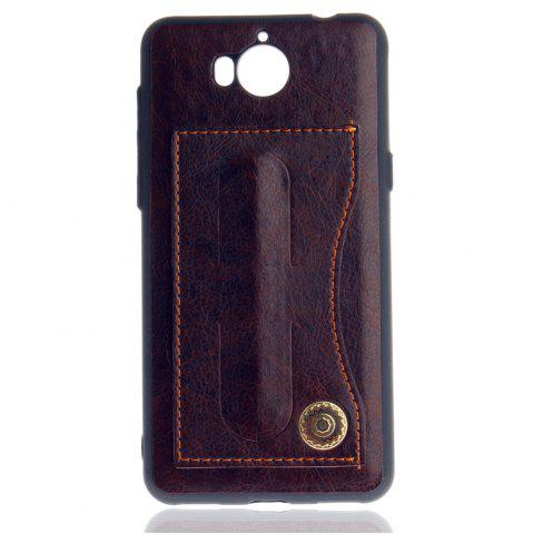 Chic Leather Bracket Insert Card Cell Phone Shell For Huawei Y6 2017 Cases Cover Extravagant Fashion Bracket Phone Case