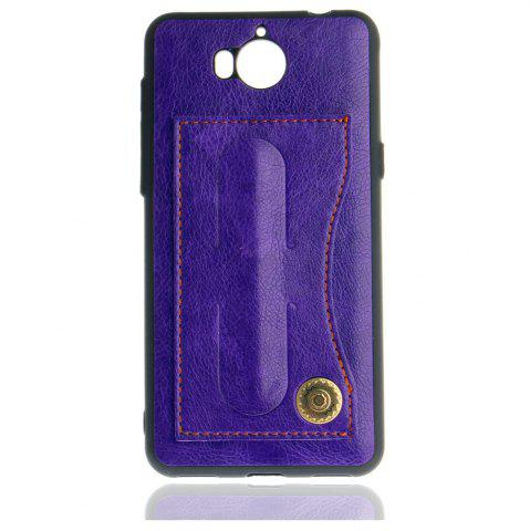 Buy Leather Bracket Insert Card Cell Phone Shell For Huawei Y6 2017 Cases Cover Extravagant Fashion Bracket Phone Case