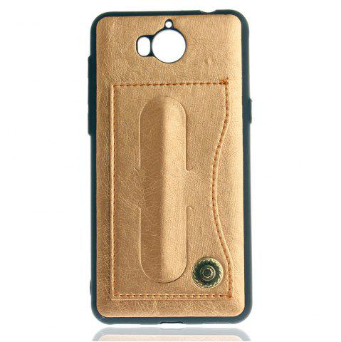 Cheap Leather Bracket Insert Card Cell Phone Shell For Huawei Y6 2017 Cases Cover Extravagant Fashion Bracket Phone Case