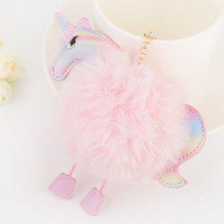 Car Key Chain Creative Unicorn Plush Pony Pendant Fashion Wild Bag Fur Ball Ornaments -