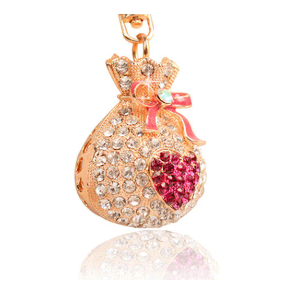 Sale Alloy Lucky Money Purse Diamond Key Holder Girls Bag Pendant Car Pendant Creative Gifts