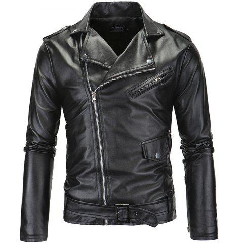 Discount Lapel Cable-Stayed Repair and Leisure Chain Coat