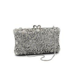 Women Bags Glasses Metal Evening Bag Crystal Detailing for Wedding Event/Party -