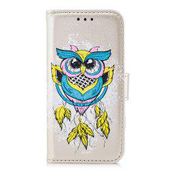 Case For Xiaomi RedMi 4X Flash Powder Owl PU Phone Protection Sleeve. -