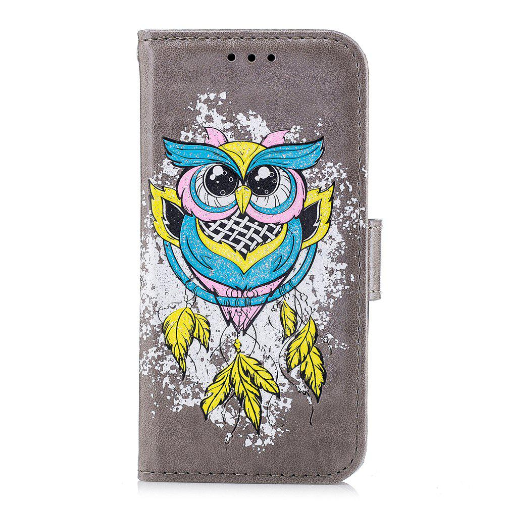 Sale Case For Xiaomi RedMi 4X Flash Powder Owl PU Phone Protection Sleeve.