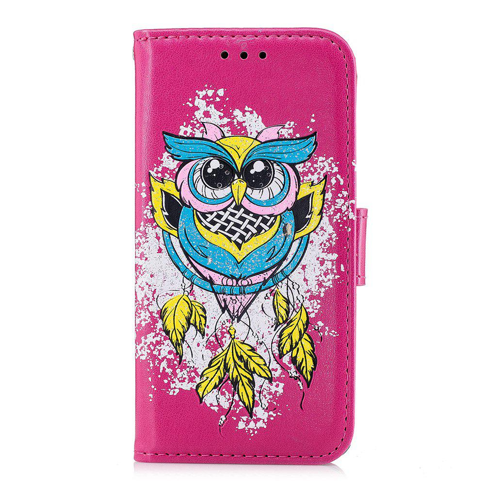Store Case For Xiaomi RedMi 4X Flash Powder Owl PU Phone Protection Sleeve.