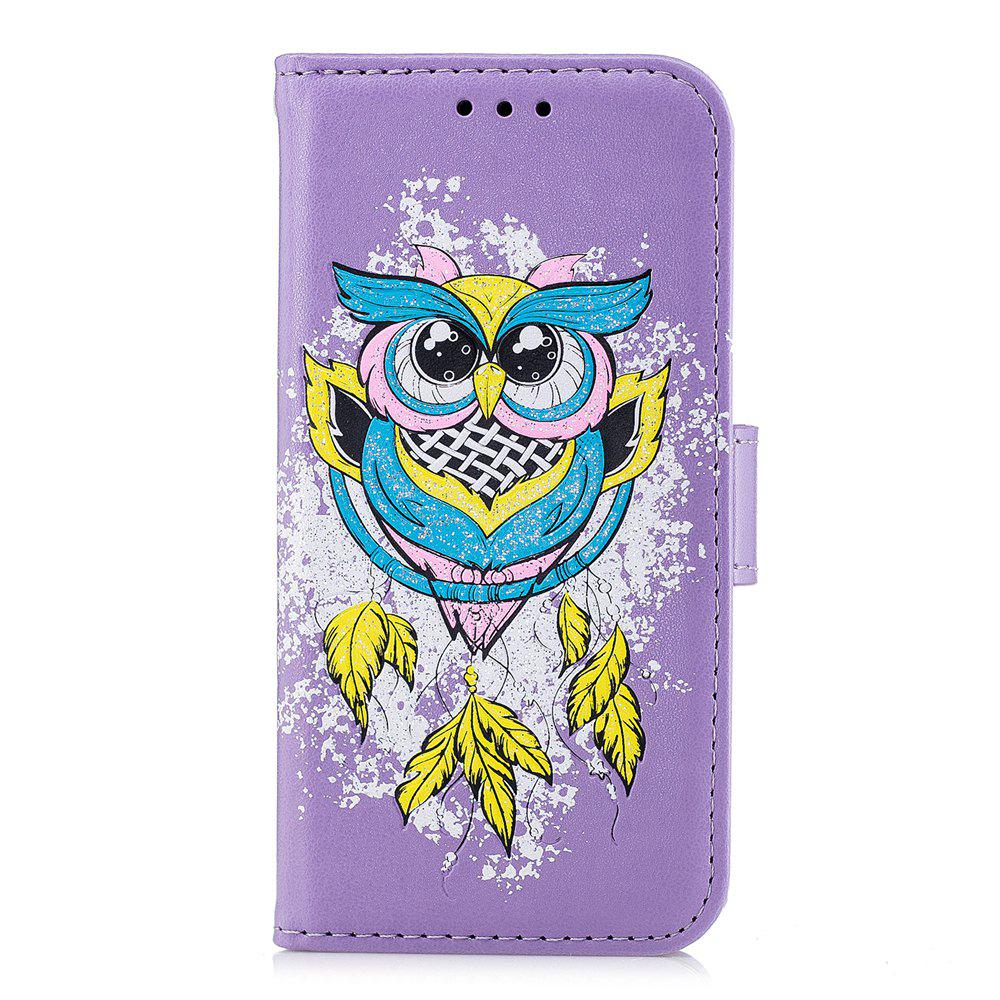 Hot Case For Xiaomi RedMi 4X Flash Powder Owl PU Phone Protection Sleeve.