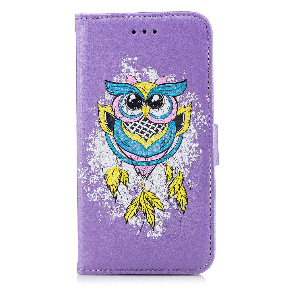 Trendy Case For Xiaomi RedMi NOTE4X Flash Powder Owl PU Phone Protection Sleeve