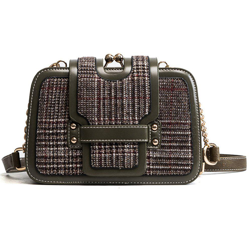aa424cfa6b3 Latest Wool Plaid Chain Female Korean Fashion Tide All-match Hit Color  Shoulder Messenger Bag