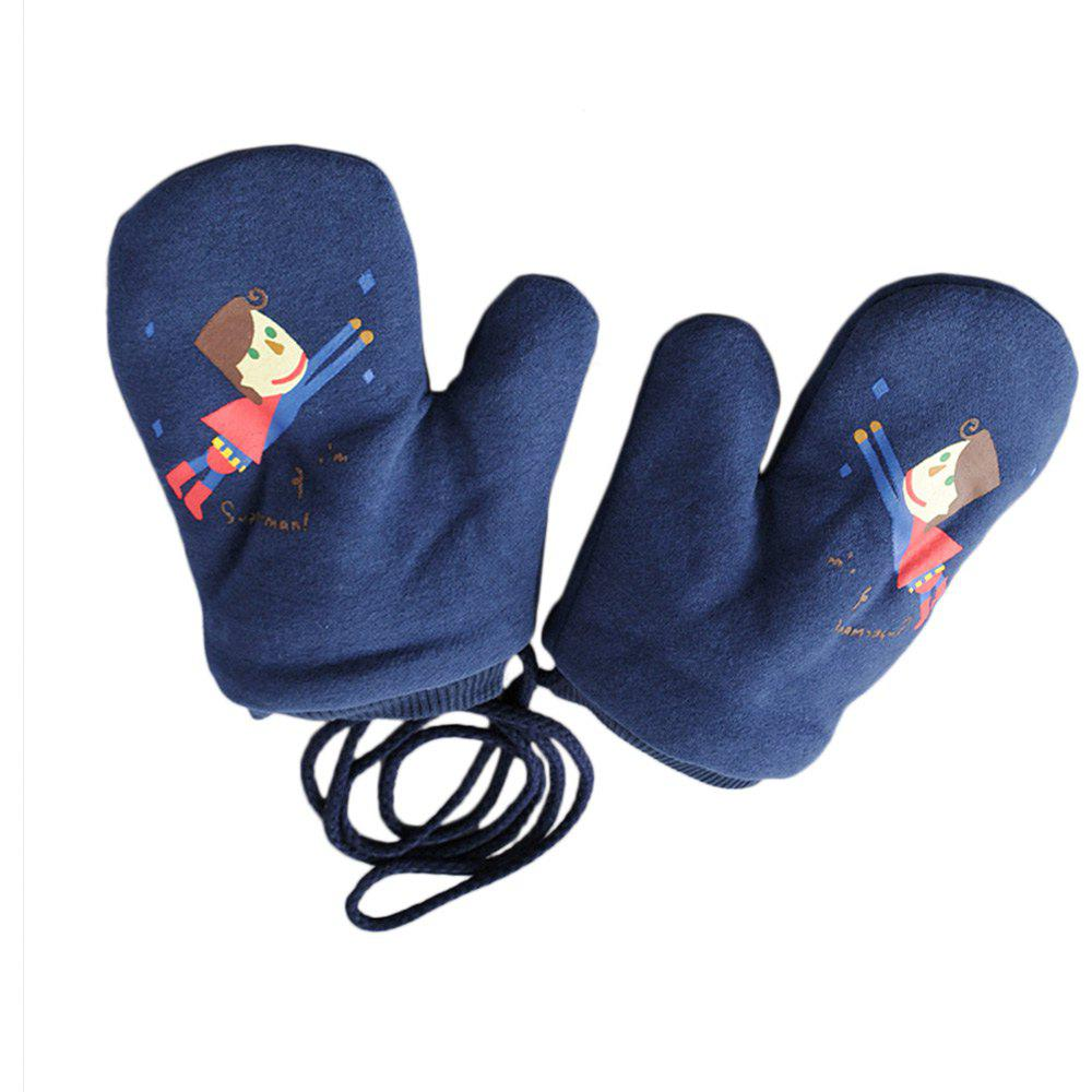 Affordable Cartoon Cute Printing Rope Warm Gloves