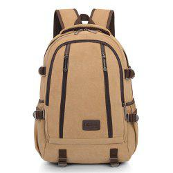 Simple Fashion Canvas Men's Shoulder Knapsack -