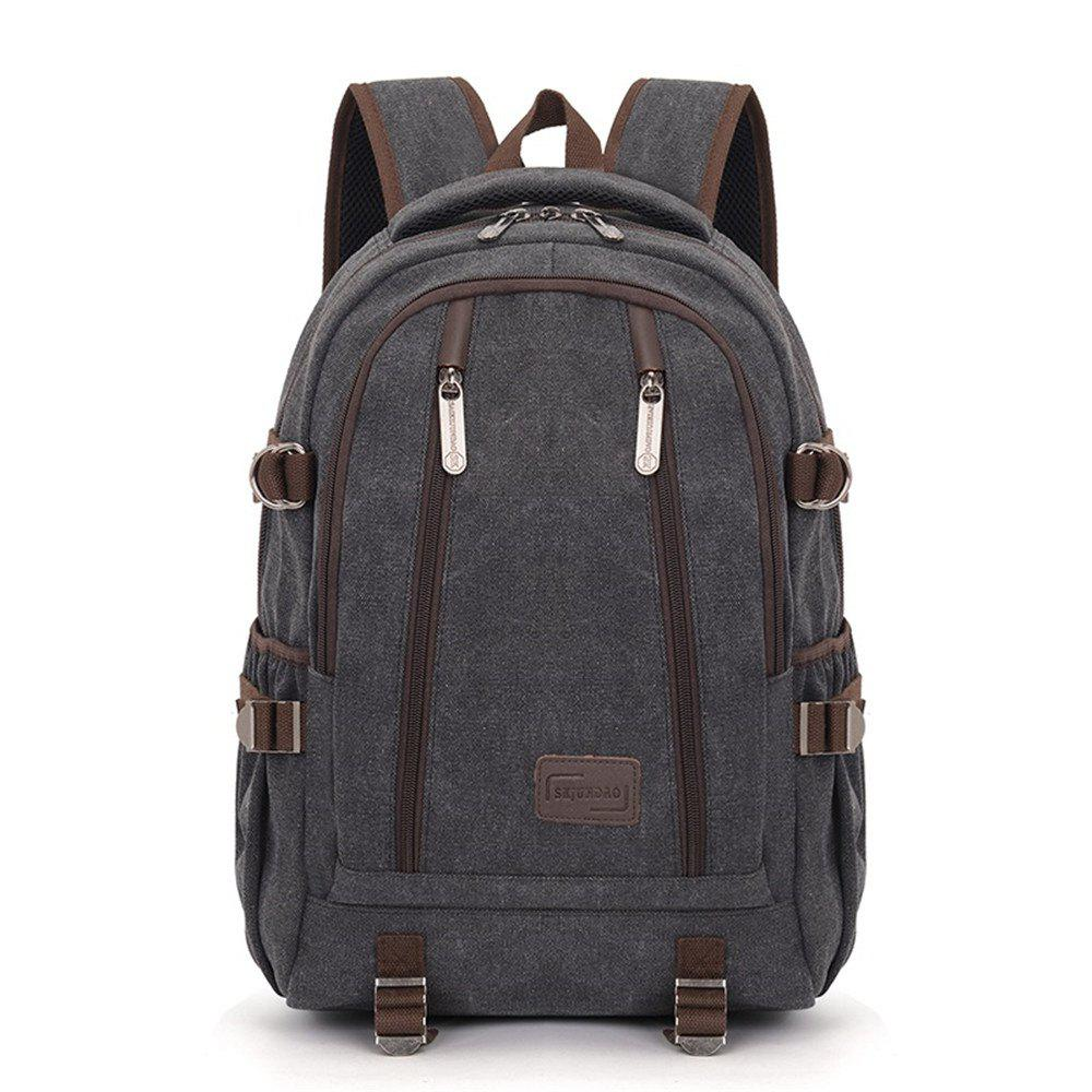 Shops Simple Fashion Canvas Men's Shoulder Knapsack