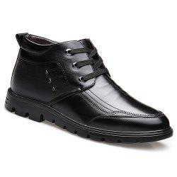 Plush Warm Leather Business Leather Shoes -