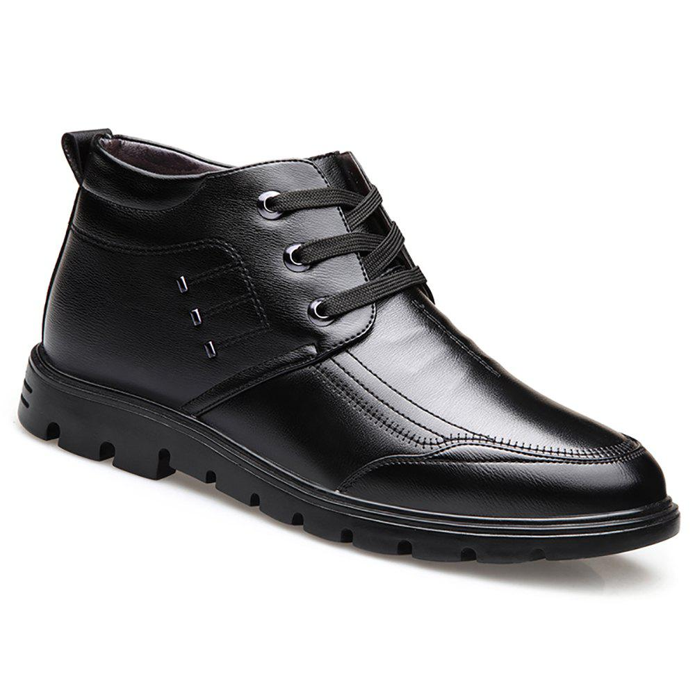 Best Plush Warm Leather Business Leather Shoes